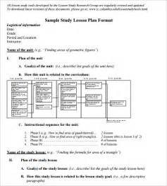 lesson plan template math 5 math lesson plan template free sle exle format
