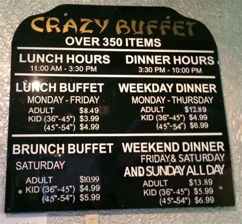 how to price a buffet pricing hours picture of buffet orlando tripadvisor