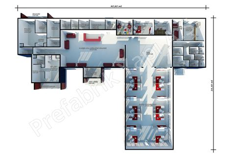 sle of office layout plan sales office 645 m2 prefabricated solutions