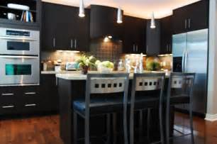 modern dark kitchen cabinets kitchen