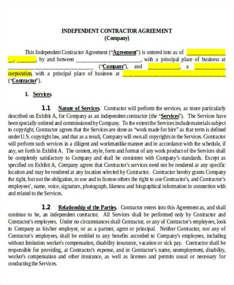 independent consulting agreement 35 consulting agreement exles sle templates