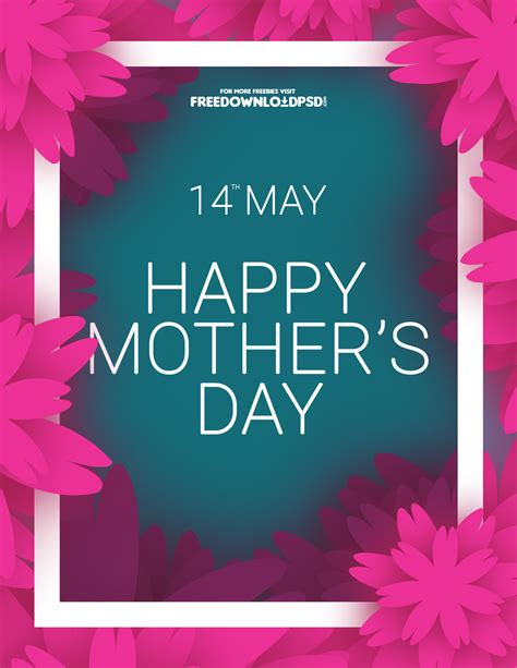 s day free mothers day colorful flyer freedownloadpsd