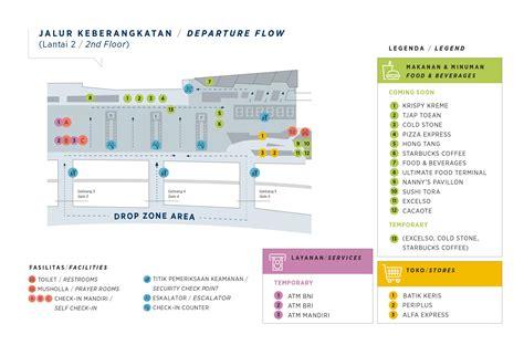 layout bandara soekarno hatta airport maps first floor soekarno hatta international