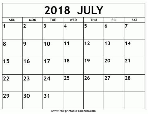 printable calendars july printable calendar july 2018 business template ideas