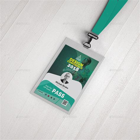 conference id card template conference vip pass id template by aam360 graphicriver