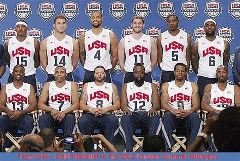 How Many Players In Mba Team by Us Basketball Team Wins The Gold In The 2012