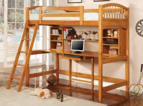 bunk beds with desk underneath the two in one bunk