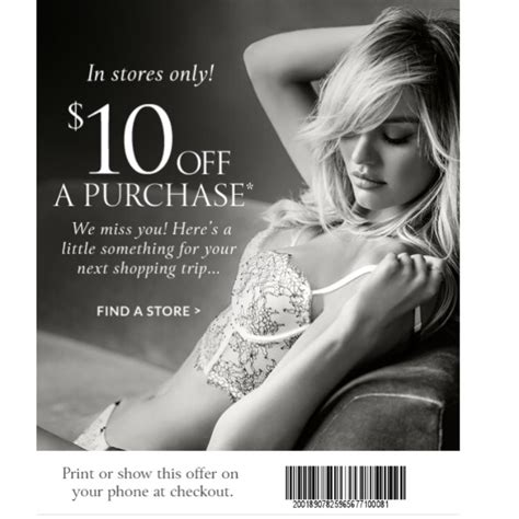 victoria secret 10 off coupon from catalog