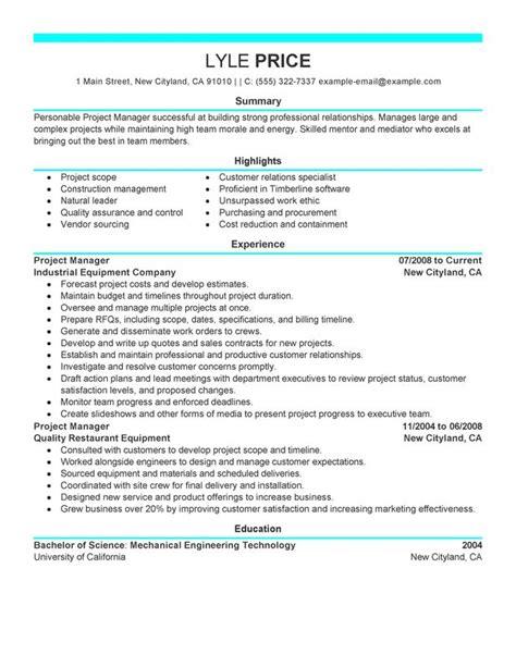 manager resume sle my resume