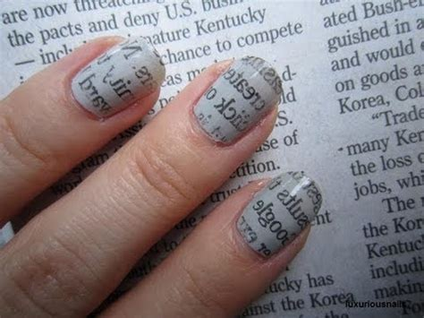 Newspaper Nail Step By Step