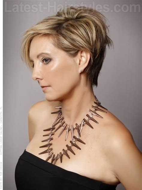 short sassy hair cuts for women over 50 with thinning hairnatural short hairstyles beautiful womens short hairstyle 2016