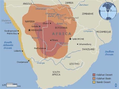 deserts of africa map kalahari desert map southern africa geography awareness