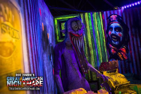 rob zombie haunted house photos from great american nightmare haunted house
