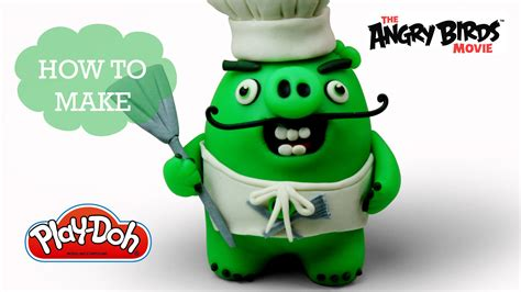 angry birds movie play doh making chef pig