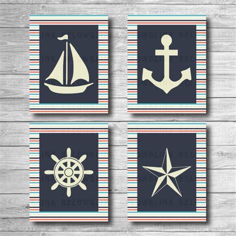 free printable nautical wall art nautical printable wall art wall decor nursery wall art