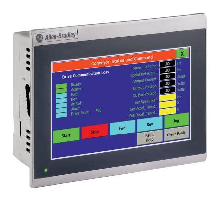 2711R-T7T   Allen Bradley PanelView 800, 7 in LCD, TFT ... Panelview Plus 600