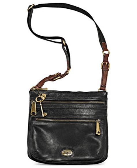 fossil cross second fossil explorer leather crossbody handbags accessories