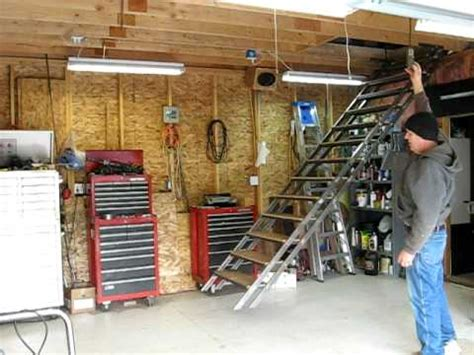 2 Car Garage With Loft by My Retractable Attic Stairs Youtube