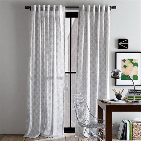 Contemporary Window Curtains Cotton Canvas Faux Bead Window Panel Contemporary Curtains By West Elm