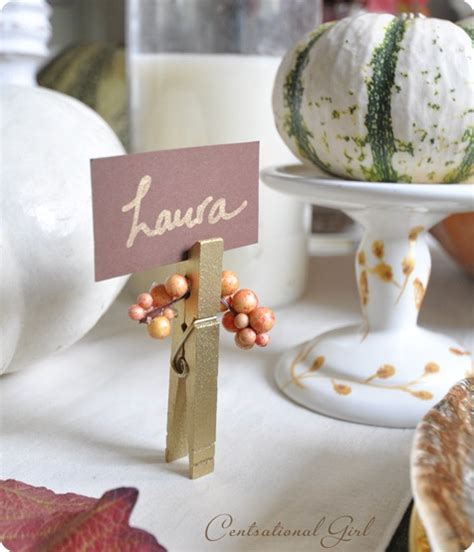 place card holder ideas three easy fall crafts link party centsational girl