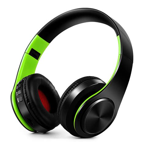 Headphone Bluetooth Stereo best wireless bluetooth headphones stereo green sale