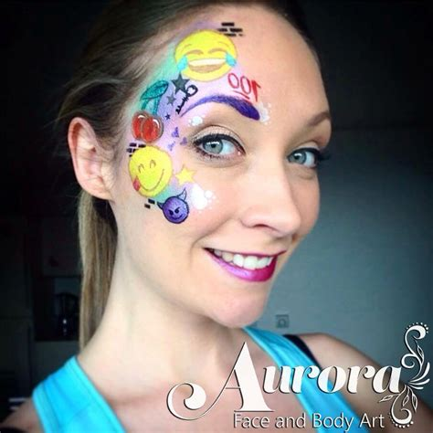 paint emoji fun emoji emoticon face paint face painting ideas