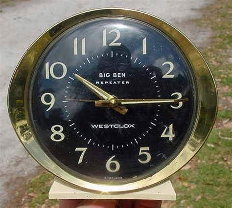 vintage big ben repeater alarm clock bedside westclox scotland works well