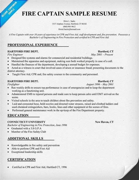 best 25 firefighter resume ideas on sle