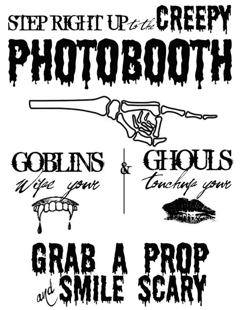 Free Halloween Signs See Cate Create Free Printable Photo Booth Sign Template