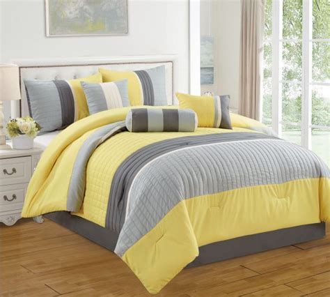 Grey And Yellow Bed Sets Bedroom Wonderful Bedroom Decor By Using Gray And Yellow Comforter Decor Ideas Home Interior