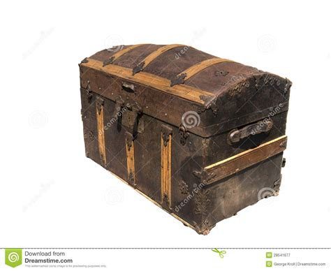 alte schatztruhe isolated on white wooden treasure chest royalty free