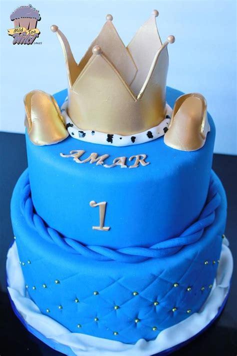 Royal Blue And Gold  Ee  Baby Ee   S Er King Cake Mild Too
