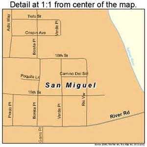 san miguel california map 0668266