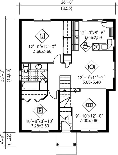 900 square feet house plans traditional style house plan 2 beds 1 baths 900 sq ft plan 25 1222