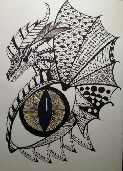 eye pattern drawing dragon around a dragon s eye zentangle my zentangle