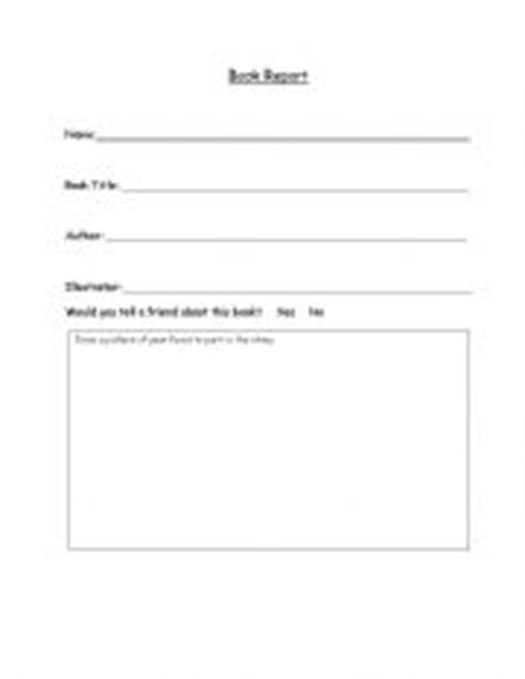 kindergarten book report template 7 best images of free printable kindergarten book report