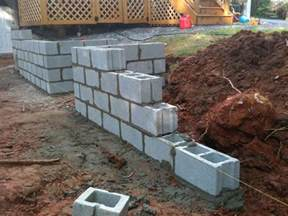 thoughts on construction of block wall look at pictures