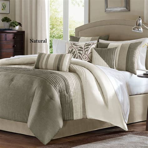 pintuck comforters salem 7 pc pintuck comforter bed set