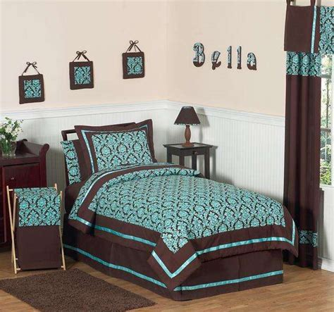 Turquoise And Brown Bedroom | chocolate brown and turquoise bedding bedroom ideas pictures