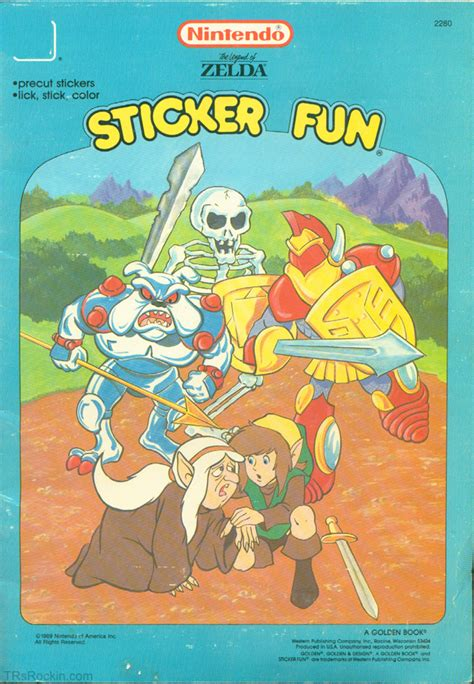 the legend of official sticker book nintendo books legend of sticker