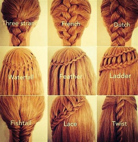 hair braid names braids fun styles pinterest