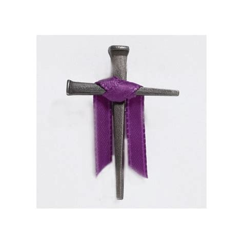 Purple Draped Cross Pin The Catholic Company