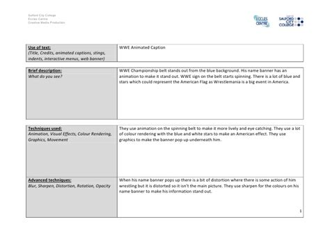 pengertian slide layout animation worksheet motion graphics and compositing video analysis worksheet 2