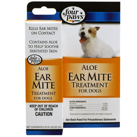Home Remedies For Ear Mites In Dogs by Four Paws Ear Mite Remedy For Dogs 0 75 Fl Oz