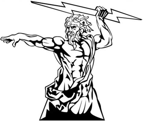 coloring page of zeus greek mythology the wrath of zeus from greek mythology