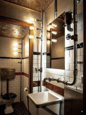 bano decorado  instalado  tuberias  la vista tuberia en  bano industrial cuarto