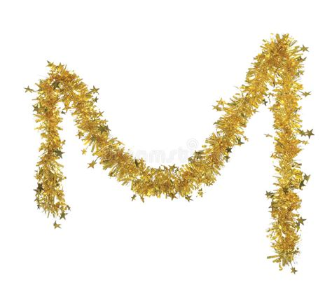 yellow tinsel with royalty free stock photos image 37075208