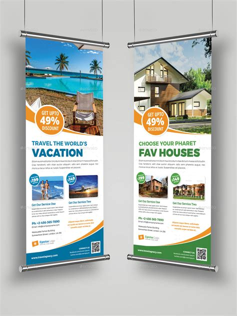 banner design envato multipurpose roll up banner signage indesign by