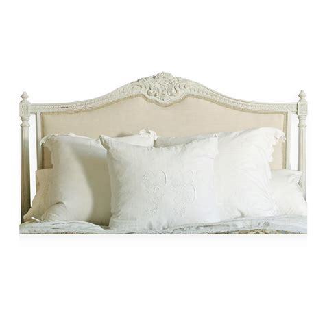 linen headboard queen louis xvi french country natural linen upholstered