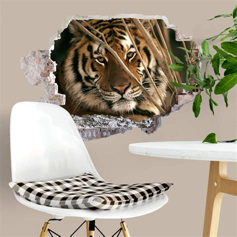 tiger wall stickers 3d wall sticker national geographic tiger wall